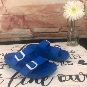 Birkenstock's Foam Blue Sandals